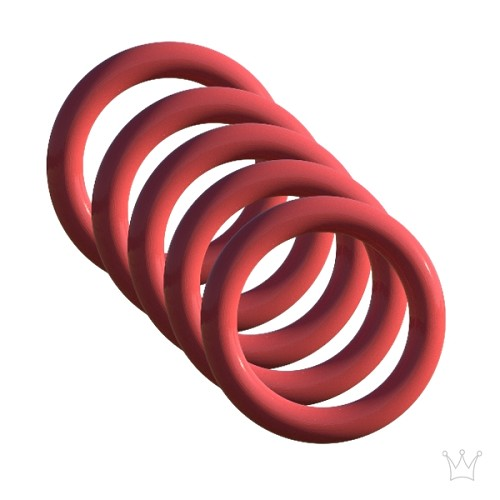 (5 Pack) Replacement Red Silicone O-Ring for Bucky Top